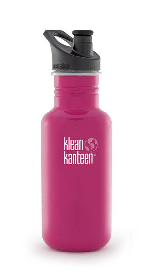 Klean Kanteen Classic - Recipientes para bebidas - con tapón deportivo, 532 ml rosa